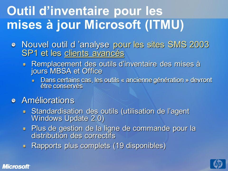 Outil d'inventaire pour les mises à jour Microsoft (ITMU)