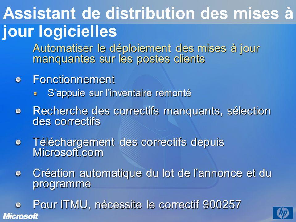 Assistant de distribution des mises à jour logicielles
