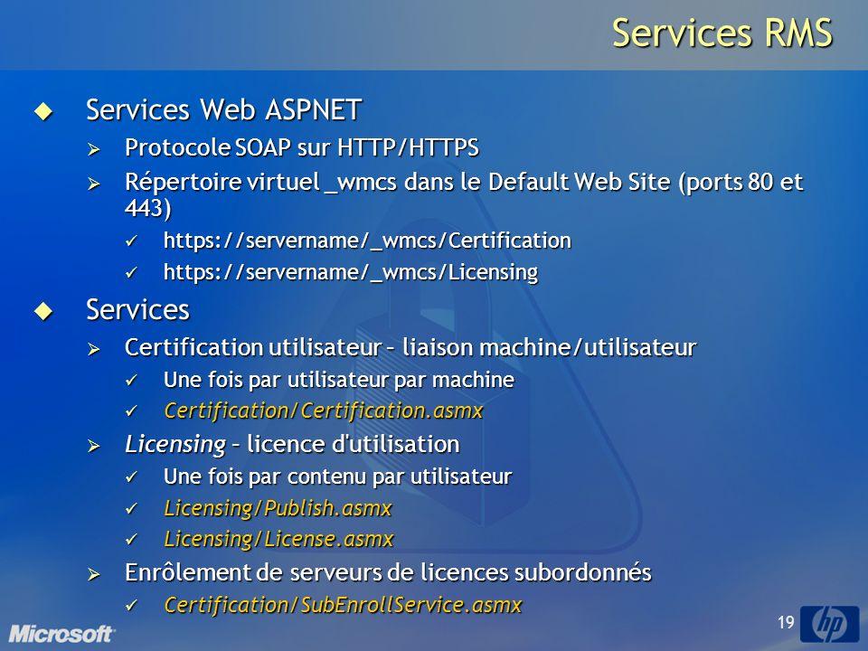 Services RMS Services Web ASPNET Services