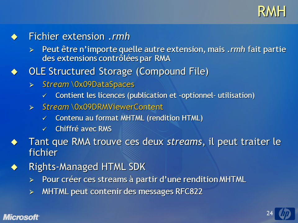 RMH Fichier extension .rmh OLE Structured Storage (Compound File)