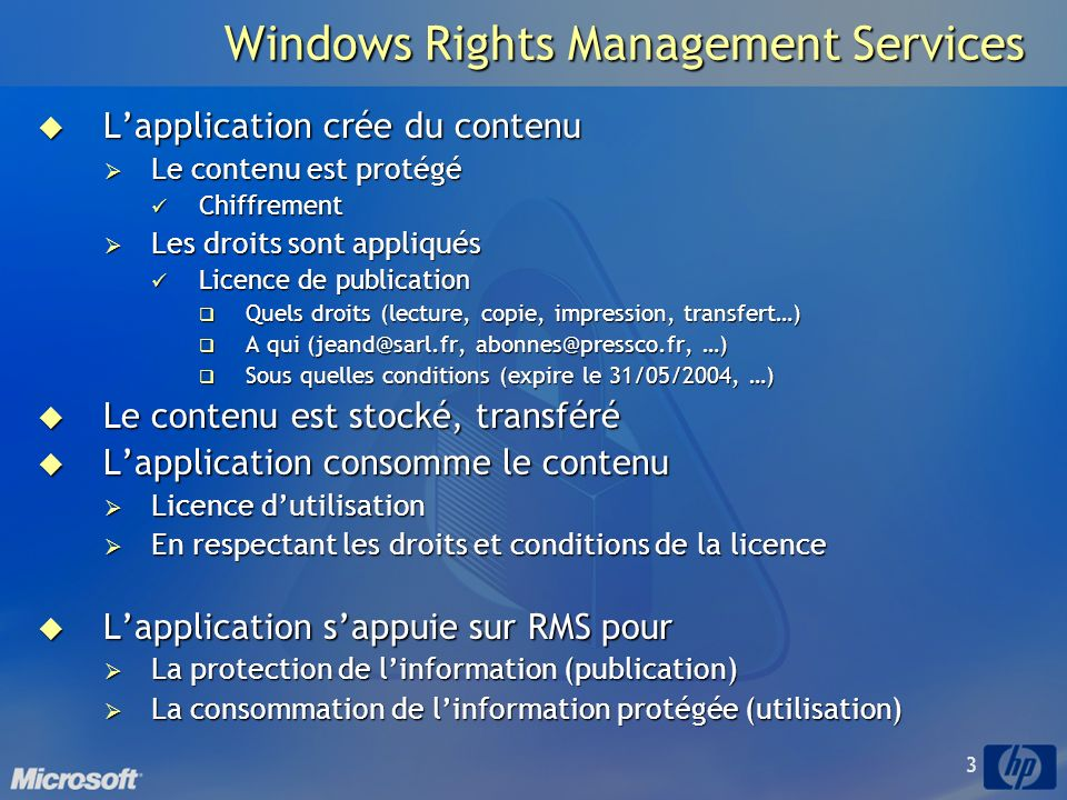 Windows Rights Management Services