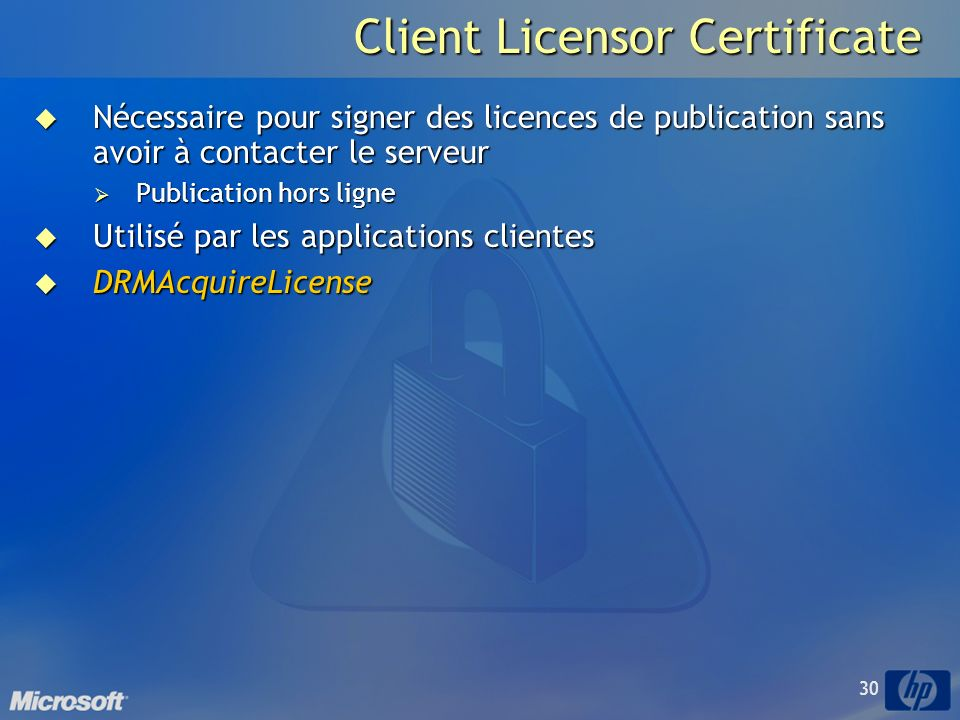 Client Licensor Certificate