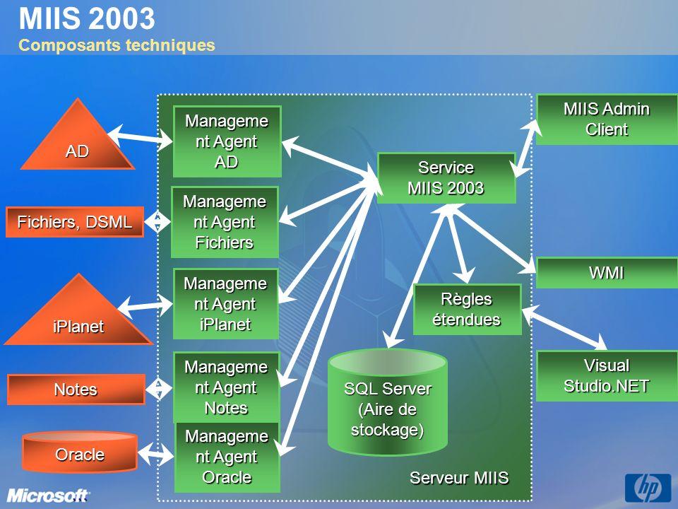 MIIS 2003 Composants techniques