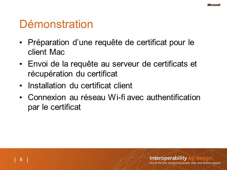Démonstration Préparation d'une requête de certificat pour le client Mac.