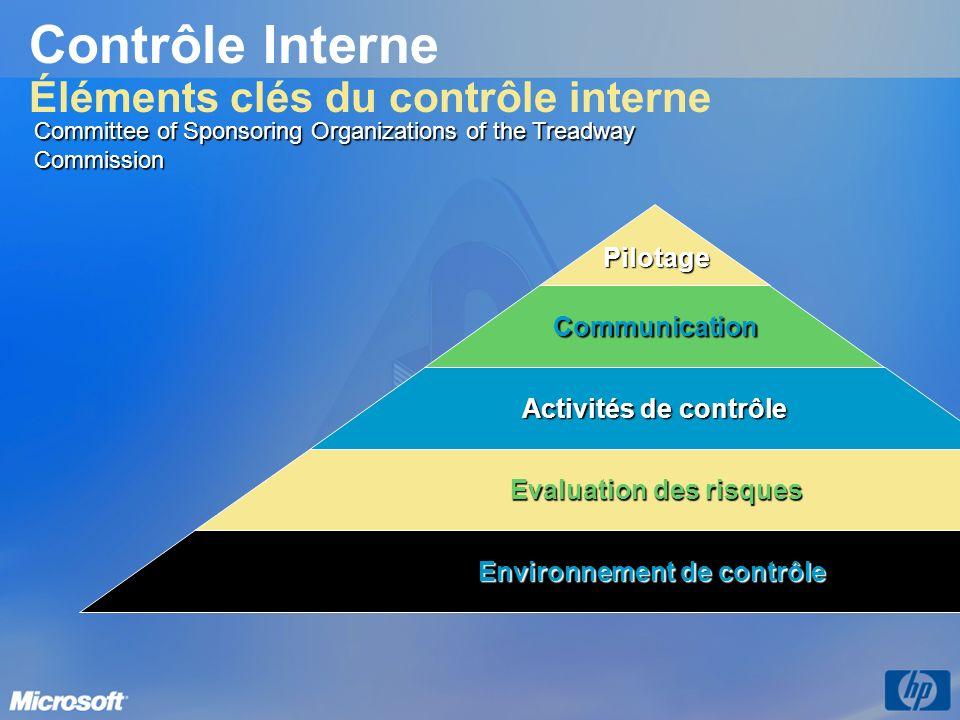 Contrôle Interne Éléments clés du contrôle interne