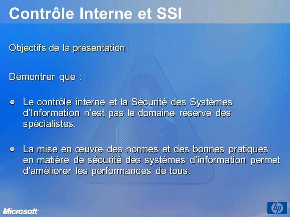 Contrôle Interne et SSI