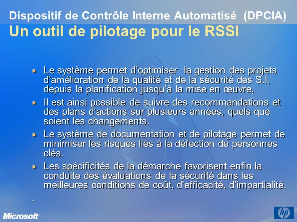 3/26/2017 3:56 PM Dispositif de Contrôle Interne Automatisé (DPCIA) Un outil de pilotage pour le RSSI.