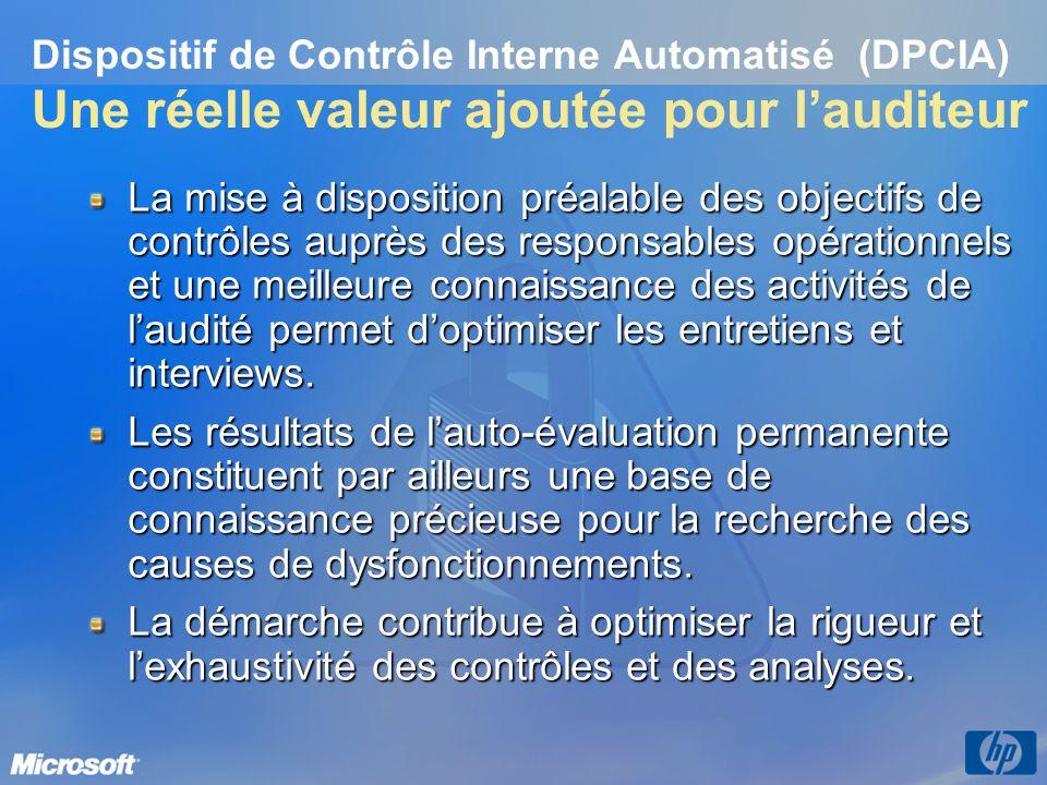 3/26/2017 3:56 PM Dispositif de Contrôle Interne Automatisé (DPCIA) Une réelle valeur ajoutée pour l'auditeur.