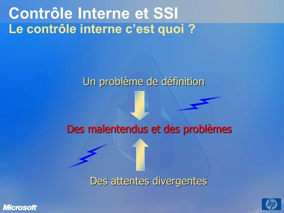 Contrôle Interne et SSI Le contrôle interne c'est quoi