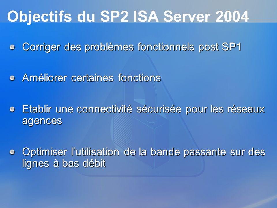 Objectifs du SP2 ISA Server 2004