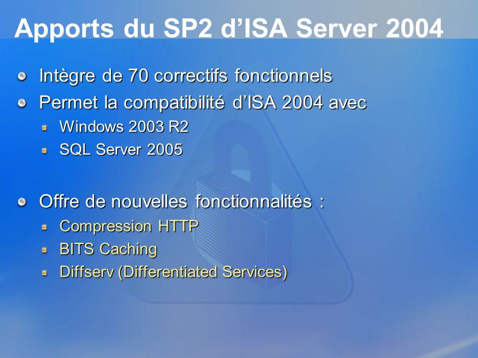 Apports du SP2 d'ISA Server 2004