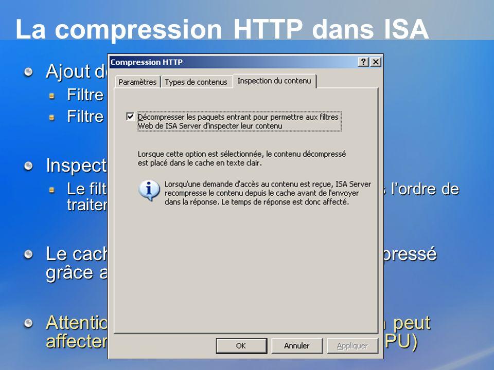 La compression HTTP dans ISA
