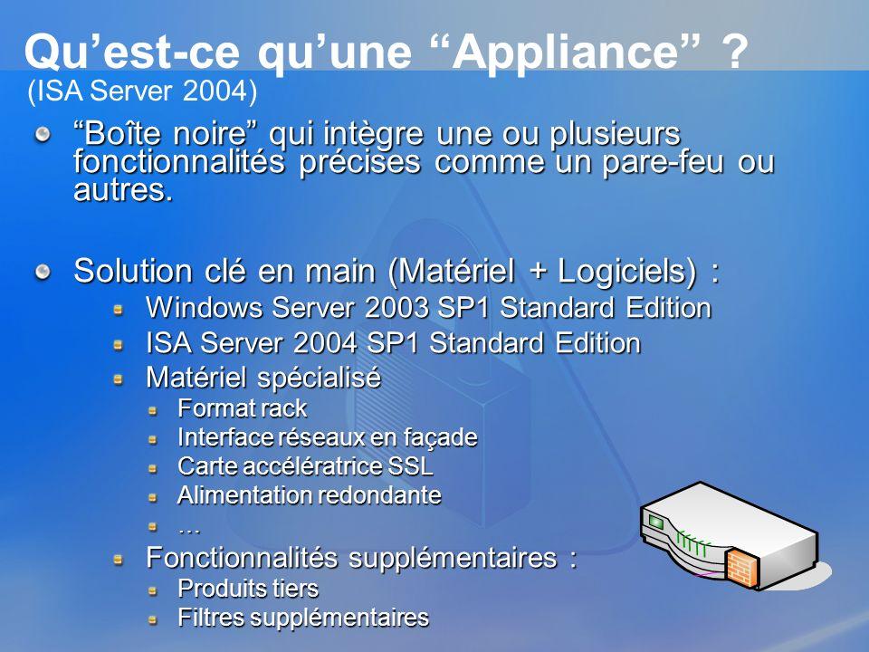 Qu'est-ce qu'une Appliance
