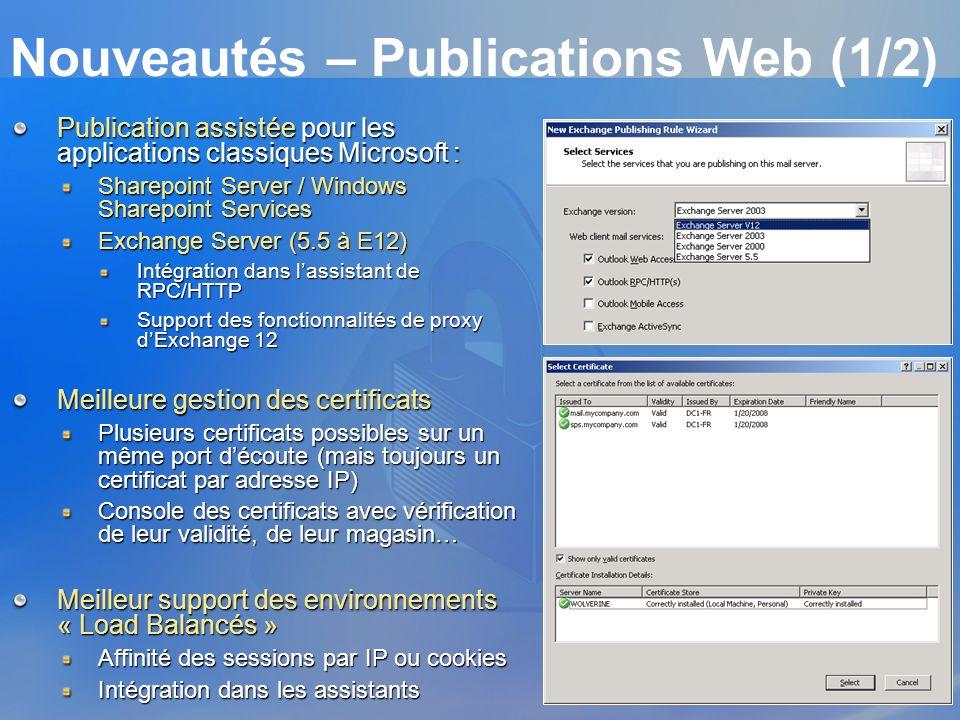 Nouveautés – Publications Web (1/2)