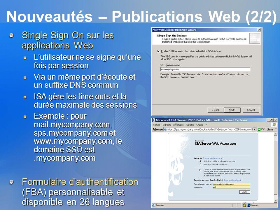 Nouveautés – Publications Web (2/2)