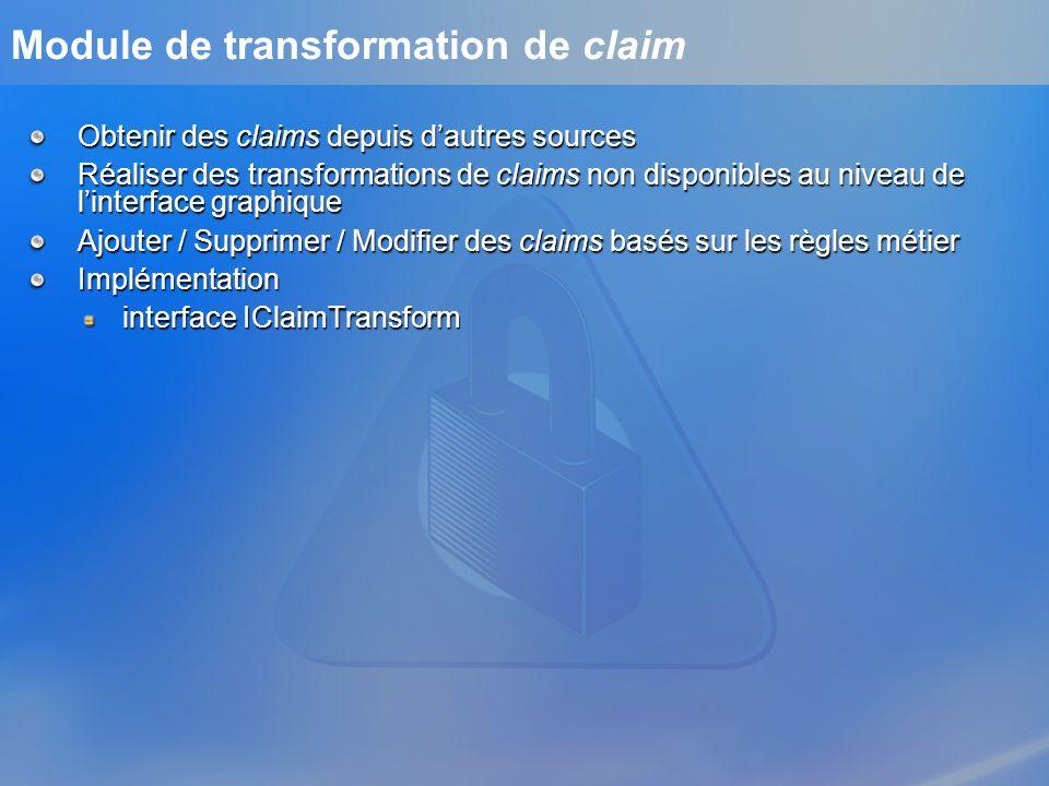 Module de transformation de claim