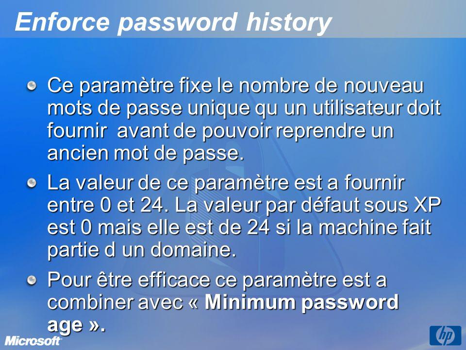 Enforce password history