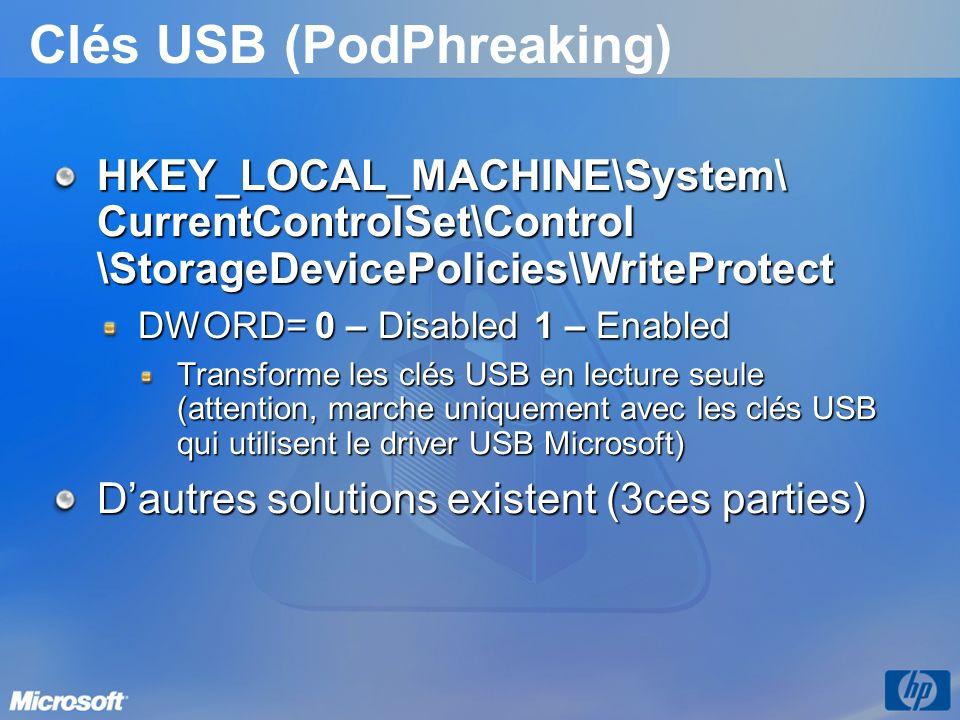 Clés USB (PodPhreaking)