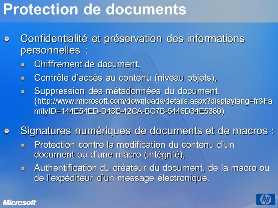 Protection de documents