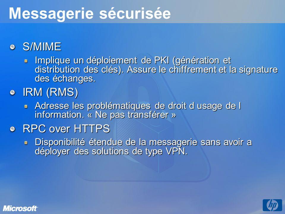 Messagerie sécurisée S/MIME IRM (RMS) RPC over HTTPS