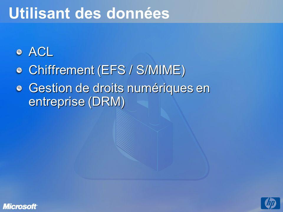 Utilisant des données ACL Chiffrement (EFS / S/MIME)