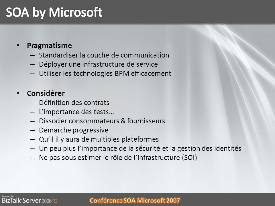 SOA by Microsoft Pragmatisme Considérer