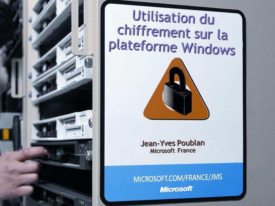 Utilisation du chiffrement sur la plateforme Windows