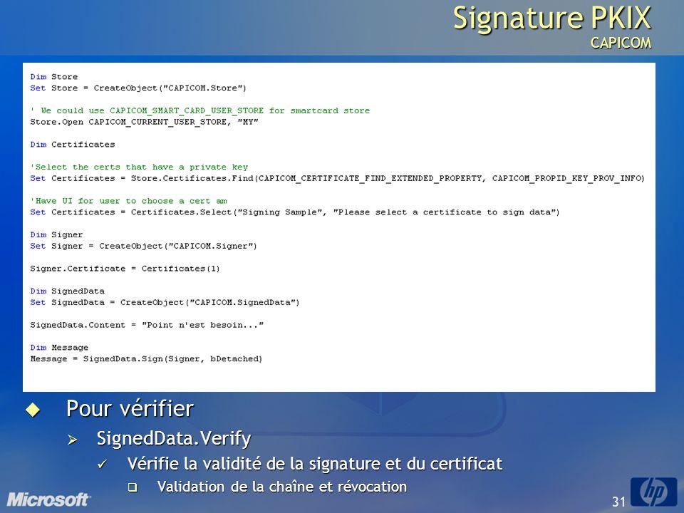 Signature PKIX CAPICOM