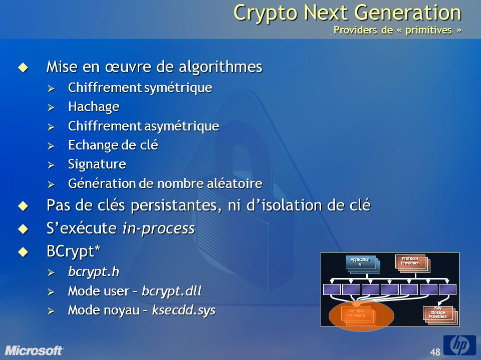 Crypto Next Generation Providers de « primitives »