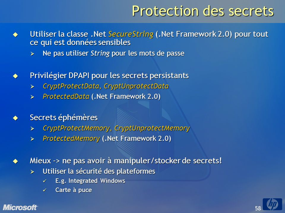 Protection des secrets