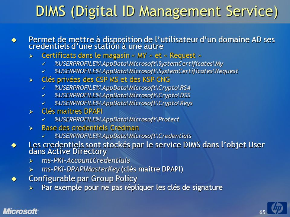 DIMS (Digital ID Management Service)