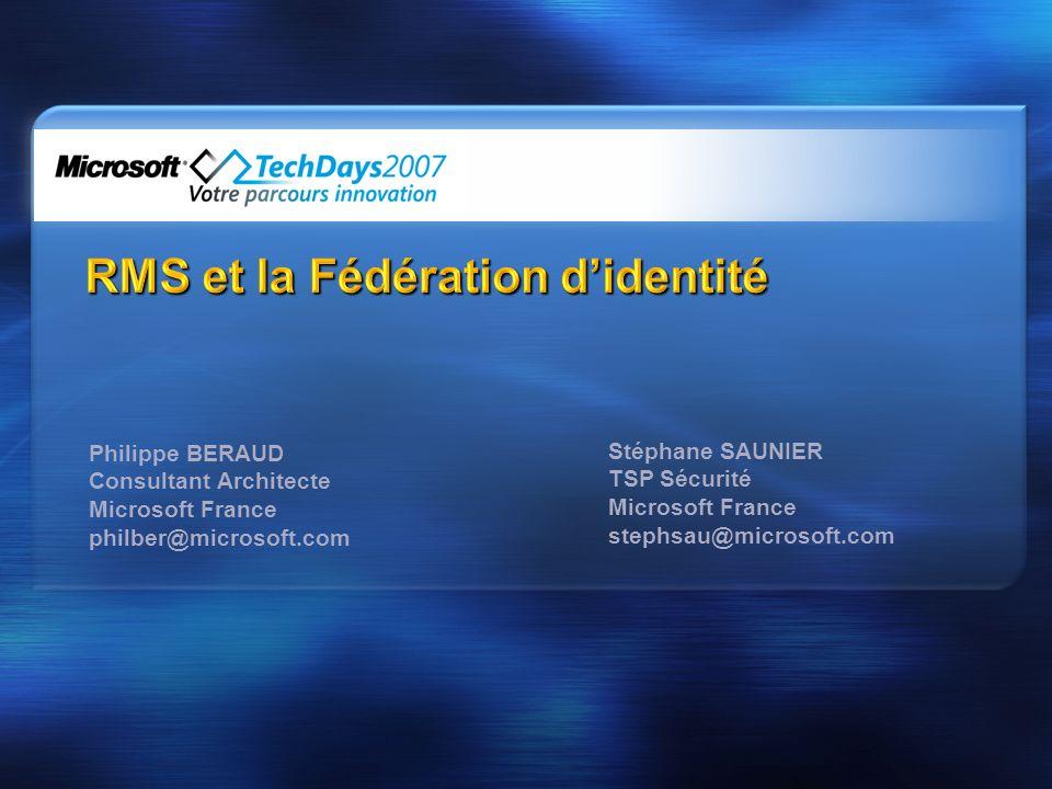 RMS et la Fédération d'identité