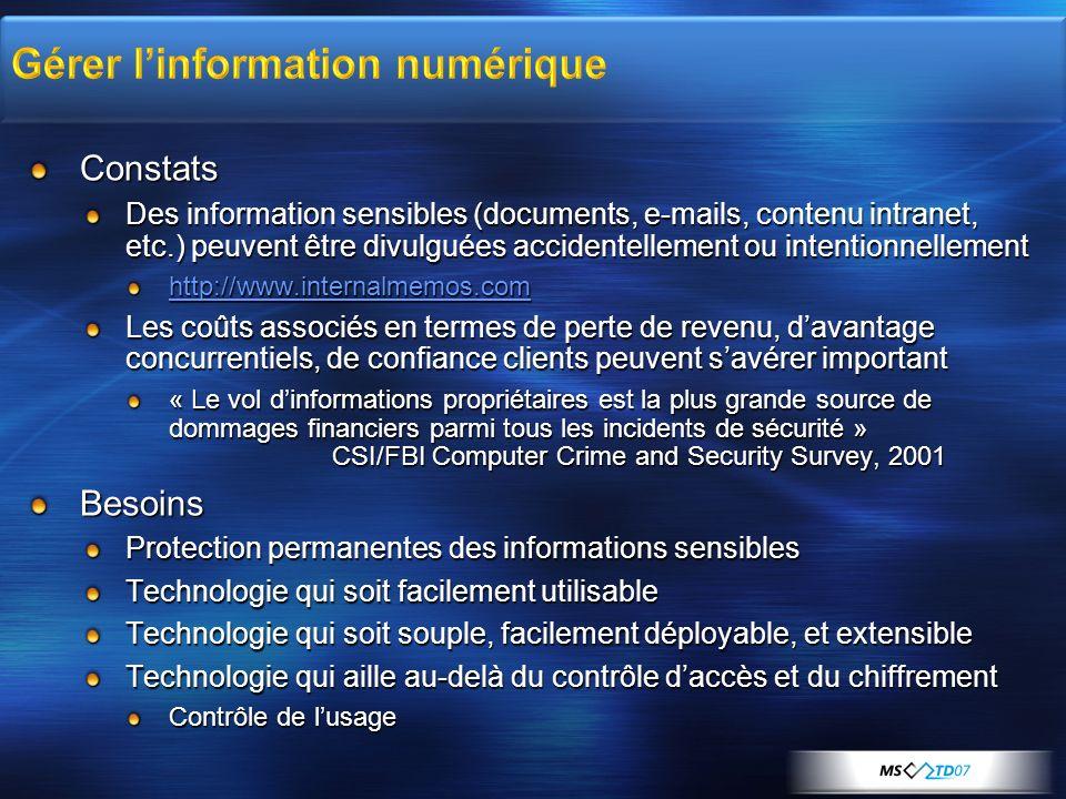 Gérer l'information numérique
