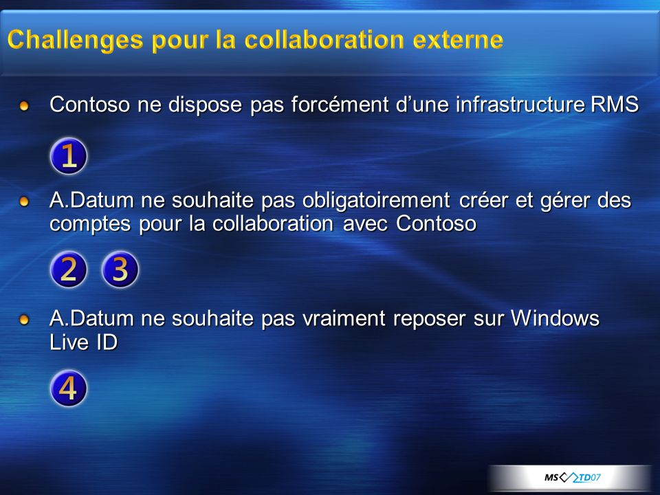 Challenges pour la collaboration externe