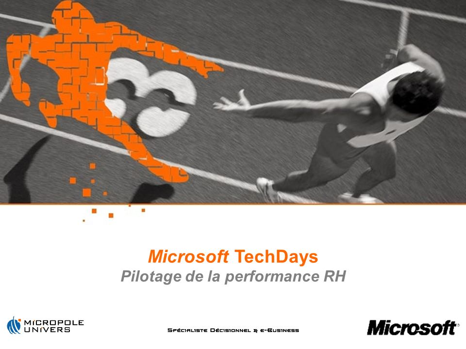 Microsoft TechDays Pilotage de la performance RH