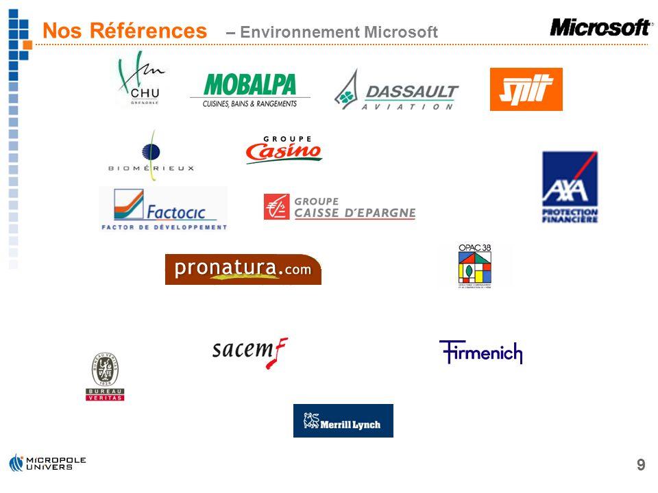Nos Références – Environnement Microsoft