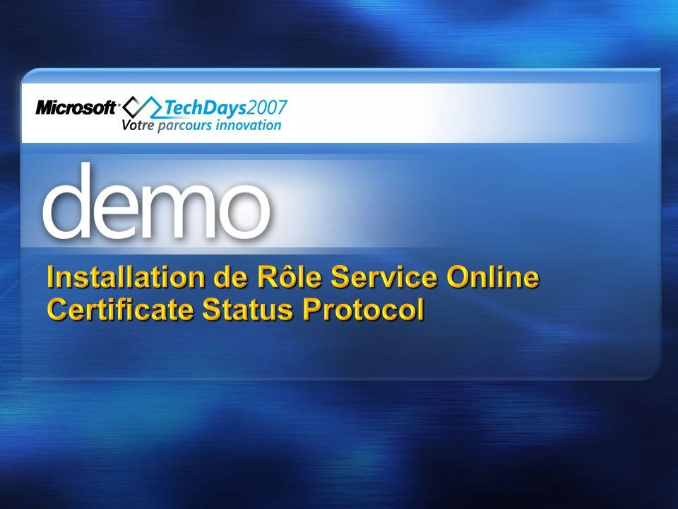 Installation de Rôle Service Online Certificate Status Protocol