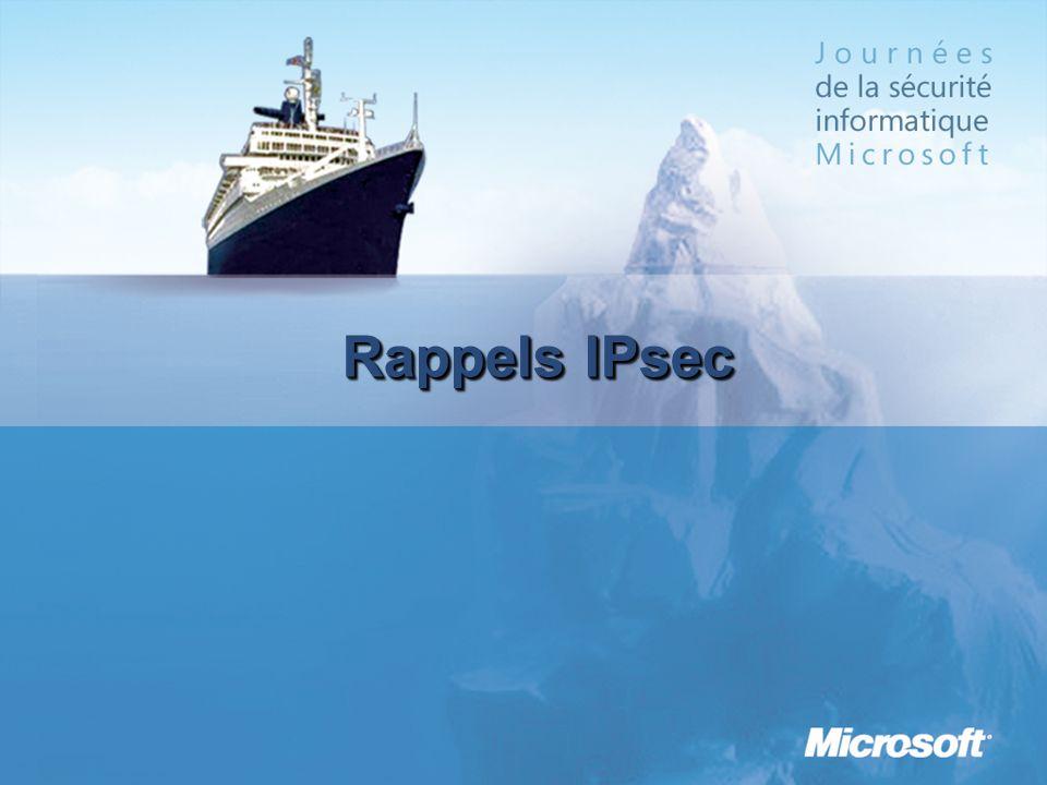 Rappels IPsec