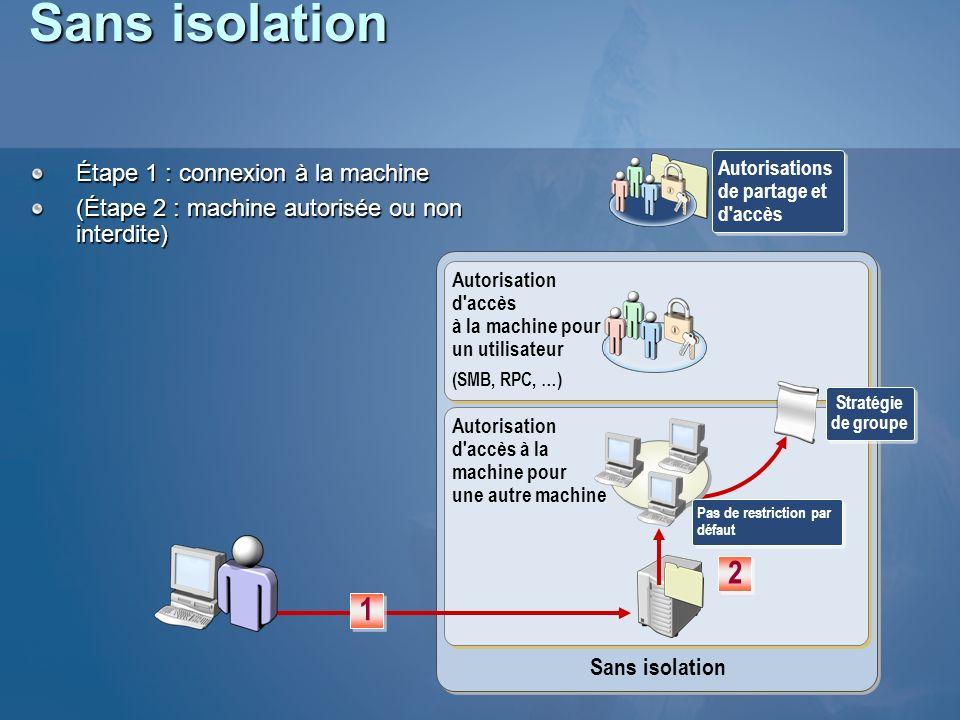 Sans isolation 2 1 Étape 1 : connexion à la machine