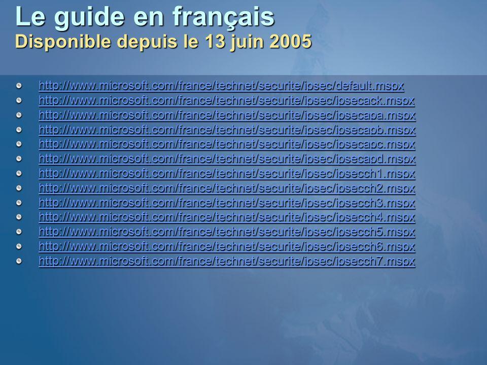 Le guide en français Disponible depuis le 13 juin 2005