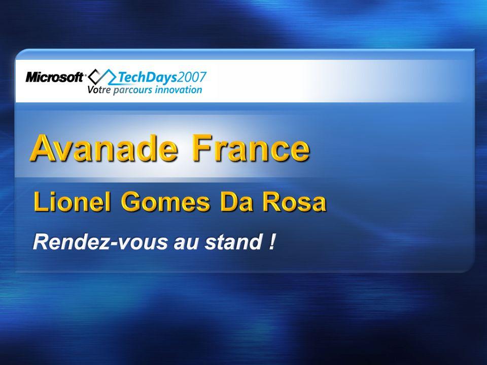 Avanade France Lionel Gomes Da Rosa Rendez-vous au stand !