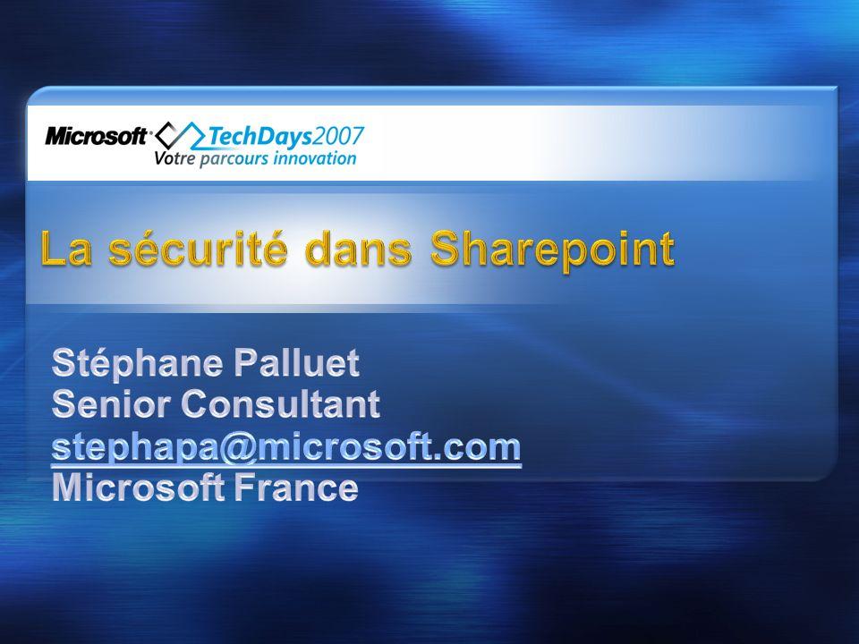La sécurité dans Sharepoint