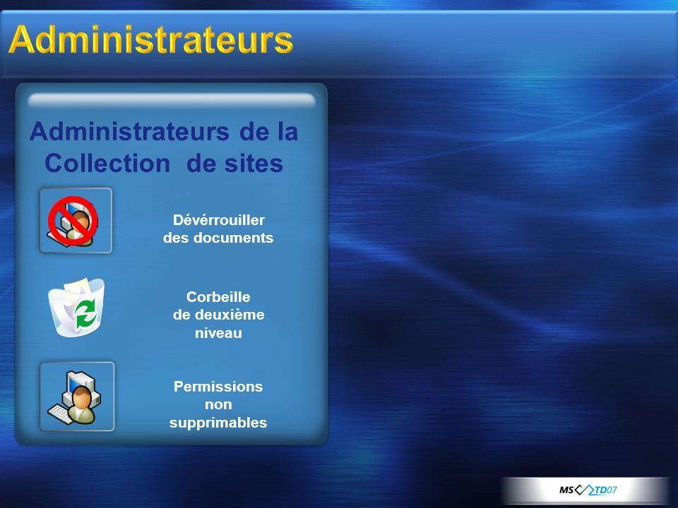 Dévérrouiller des documents Permissions non supprimables