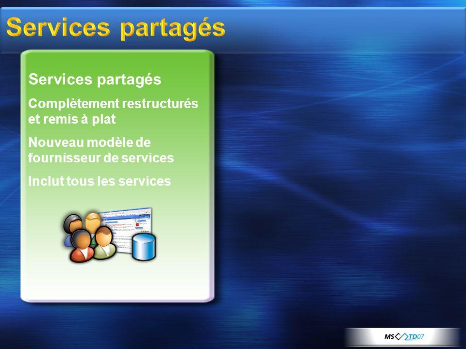 Services partagés Services partagés