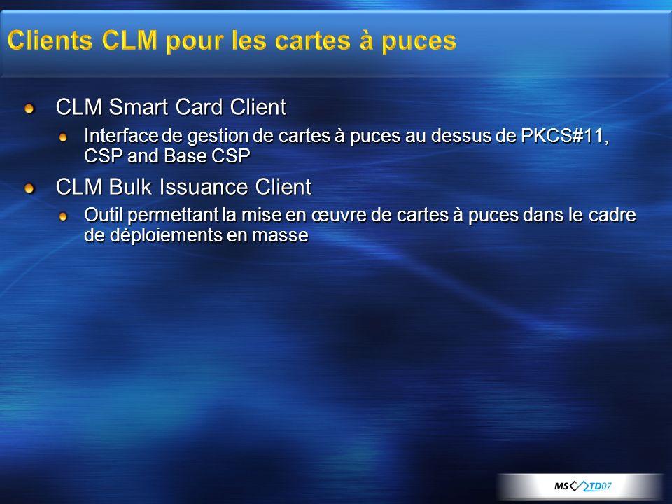 Clients CLM pour les cartes à puces