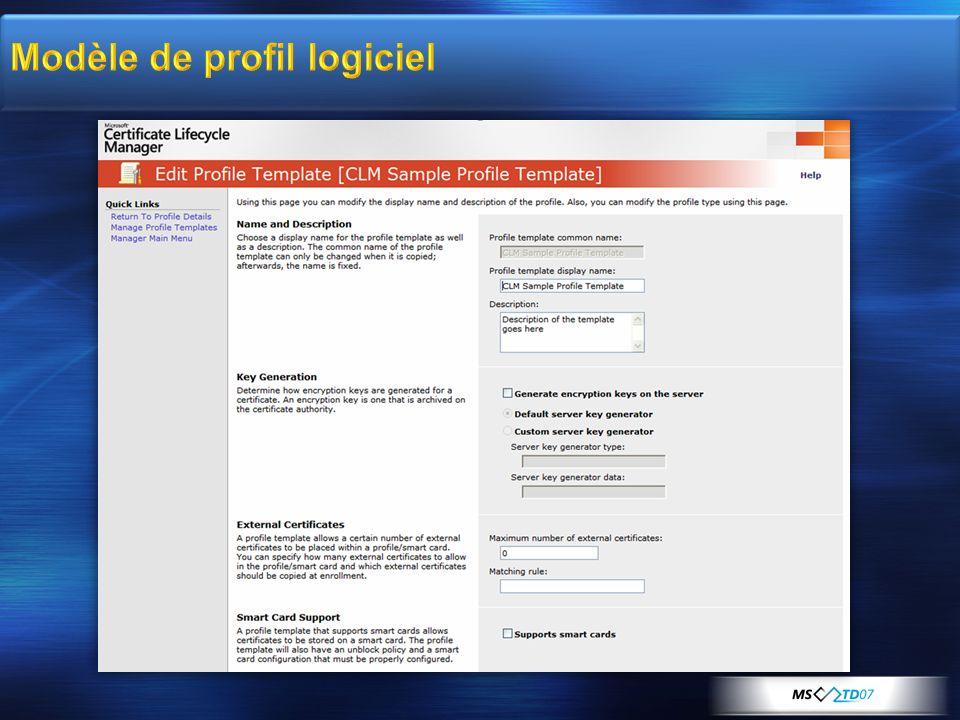 Modèle de profil logiciel