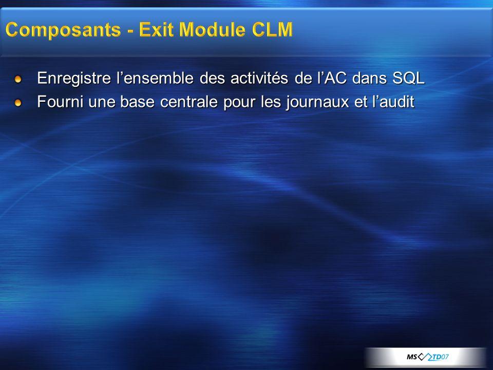 Composants - Exit Module CLM