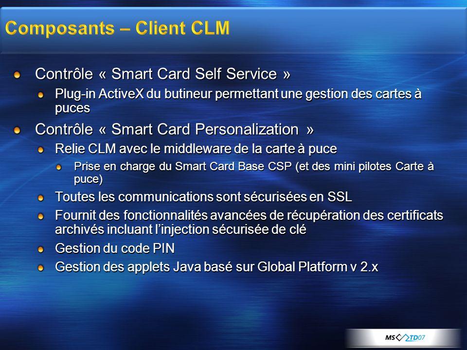 Composants – Client CLM