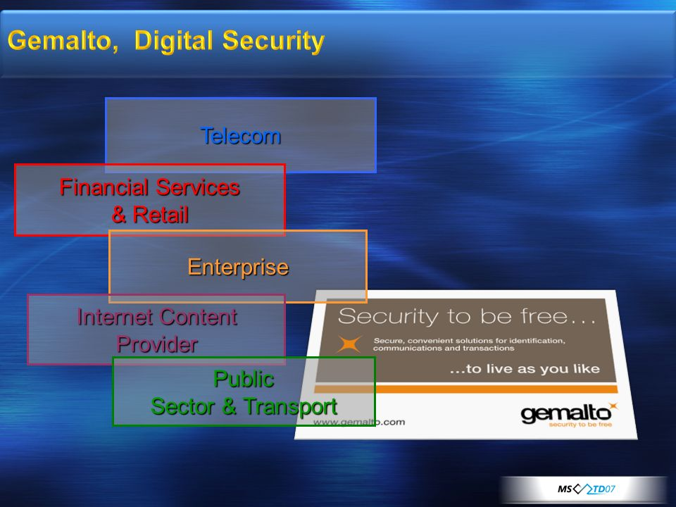 Gemalto, Digital Security