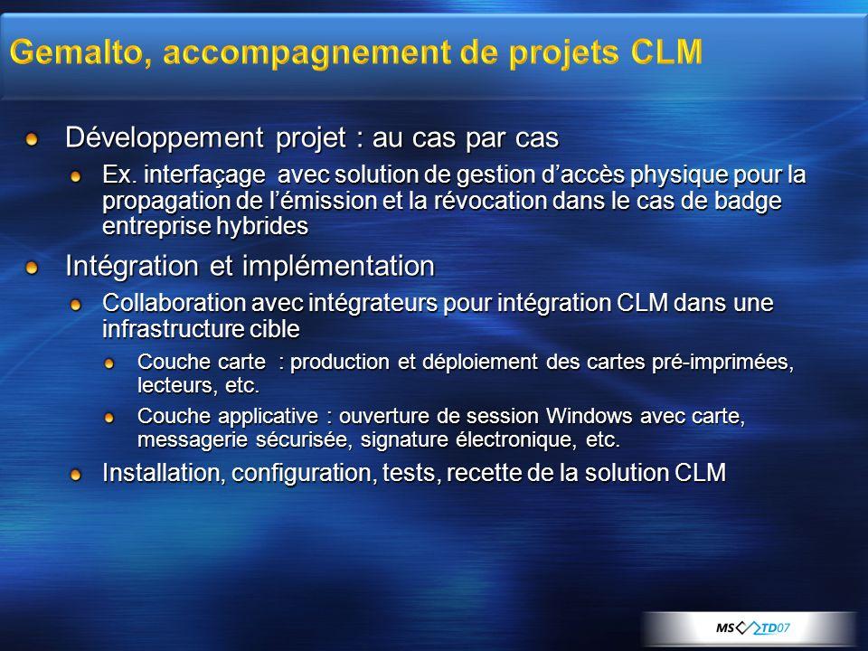 Gemalto, accompagnement de projets CLM